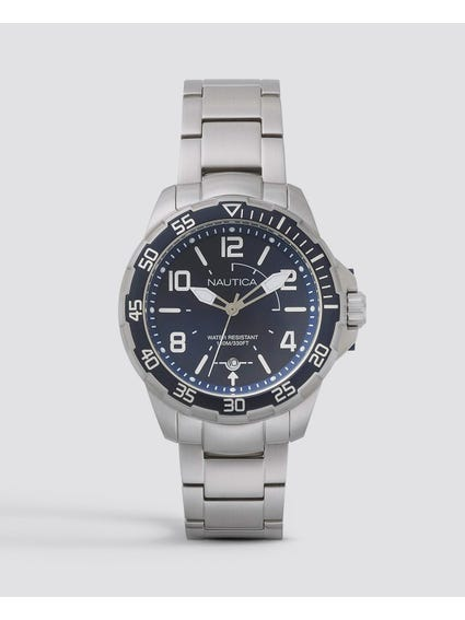 Blue Pilot House Stainless Steel Watch