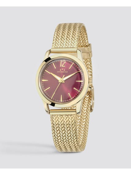 Gold Plated Stainless Steel Watch