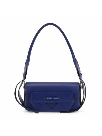 Blue Leather City Magnetic Shoulder Bag