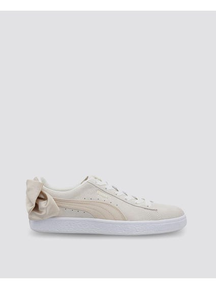Off-white Suede Bow Varsity Sneakers