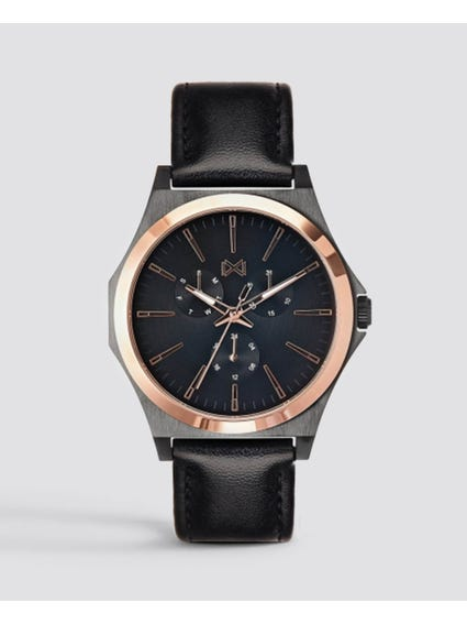 Stainless SteelBlack Dial Watch