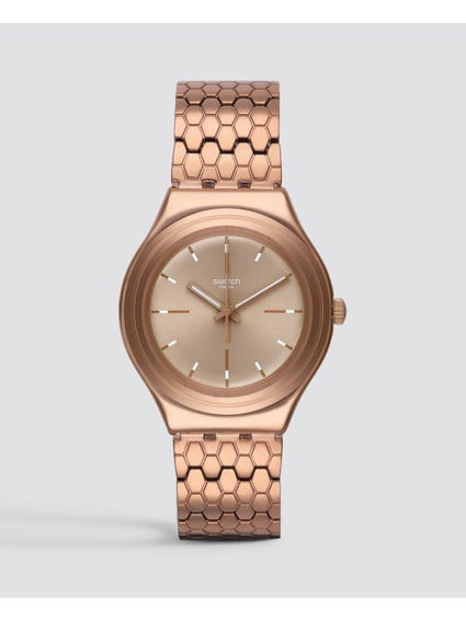 Rose Gold Bronzilla Irony Stainless Steel Analog Watch