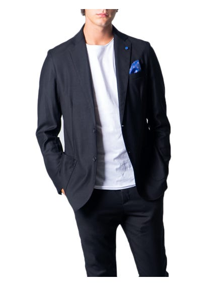 Black Collar Pocket Button Blazer