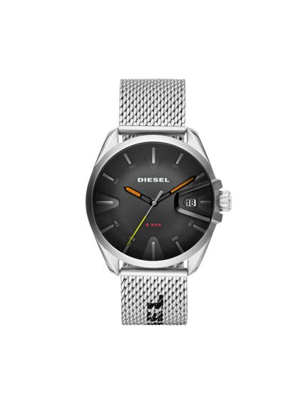 Mesh Strap Black Dial Analog Watch