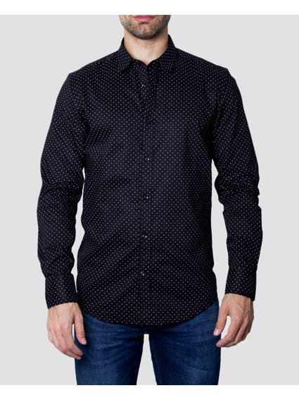 Black Polka Dots Long Sleeves Shirt
