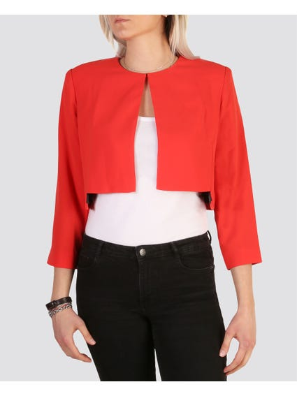 Red Cropped Blazer