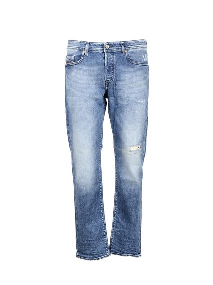 Repaired Denim Jeans