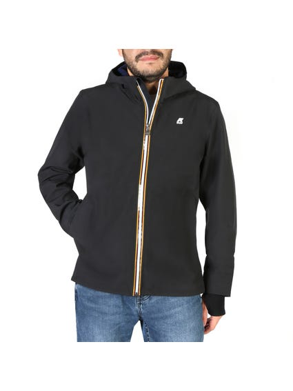 Black Hood Zip Up Jacket