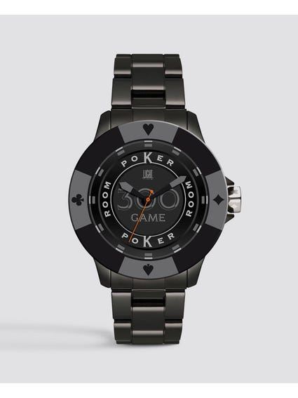 Grey Poker Quartz Watch