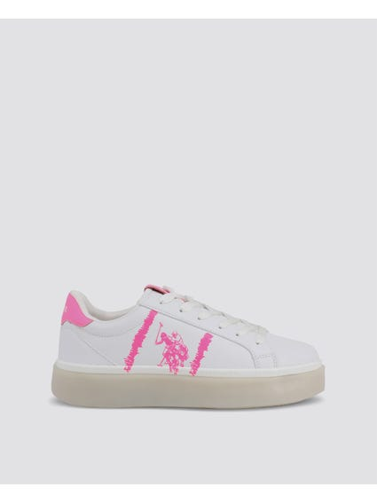 White Lucy Low Top Sneakers