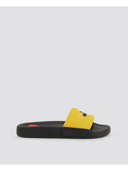 Yellow Contrast Strap Slides