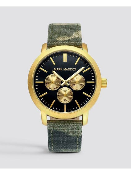 Fabric strap Black Dial Analog Watch