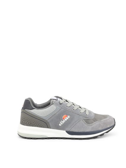 Grey Suede Pattern Lace Sneakers