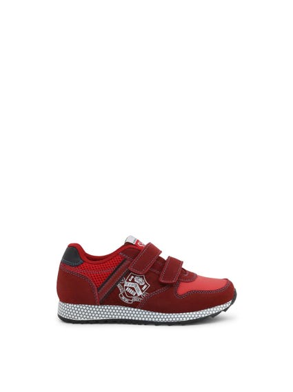 Red Velcro Strap Kids Sneakers
