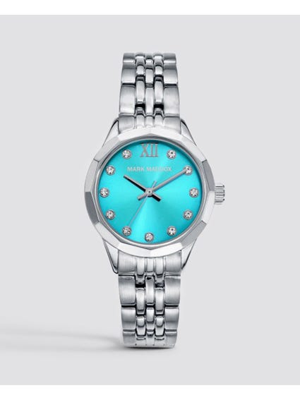 Silver Stone Indices Analog Watch