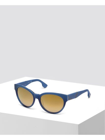 Round Blue Gradient Sunglasses