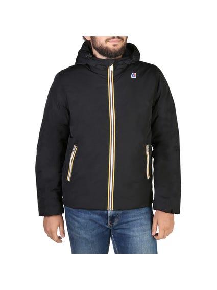 Black Zipper Pocket Hooded Jacket