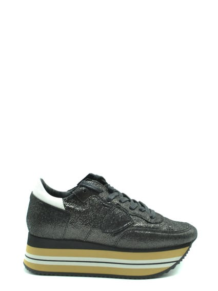 Stripe Wide Sole Lace Sneakers