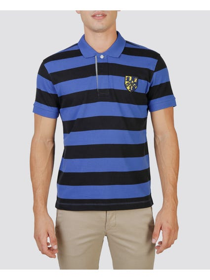 Black Trinity Rugby Polo Shirt