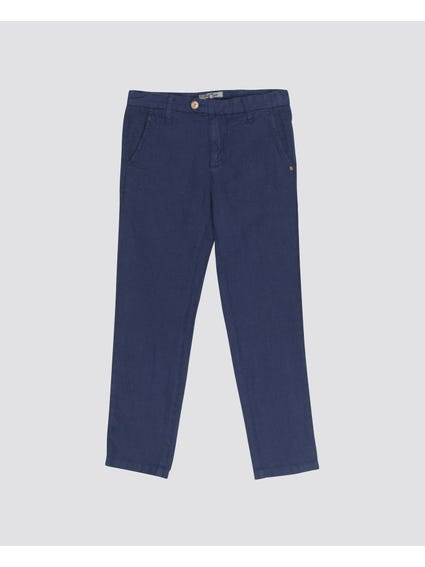 Blue Casual Kids Trouser