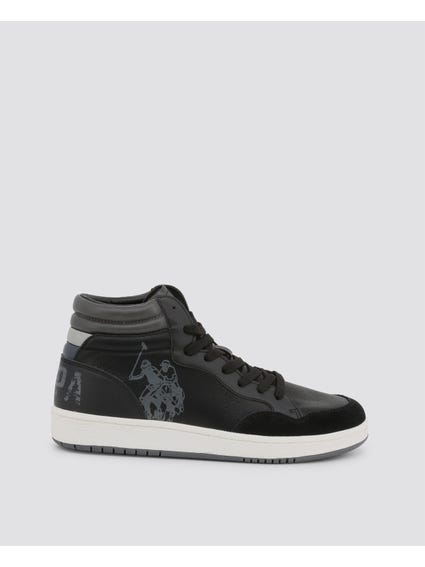 Black Alwyn Big Logo High Top Sneakers