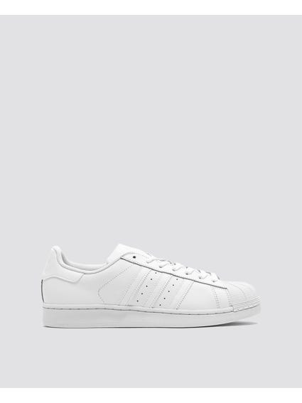 White Stripe Superstar Sneakers