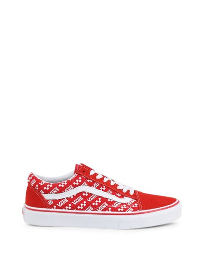 Red Printed Brand Upper Sneakers