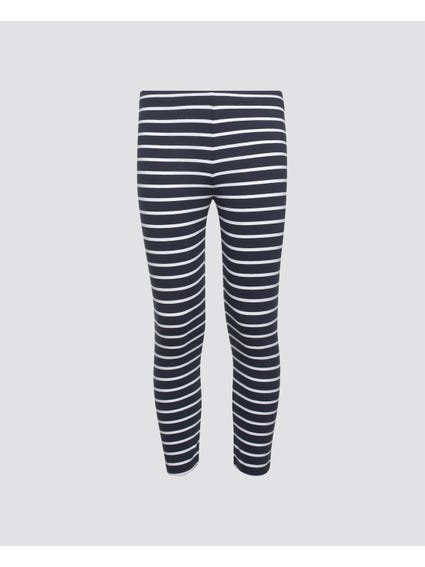 Elastic Striped Kids Leggings