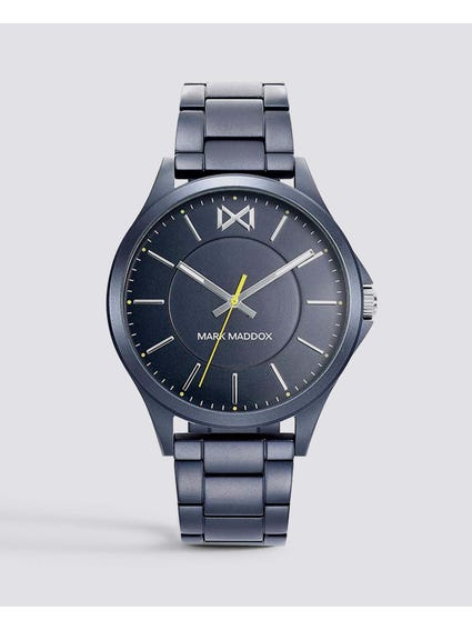 Shibuya Navy Dial Stainless Steel Watch