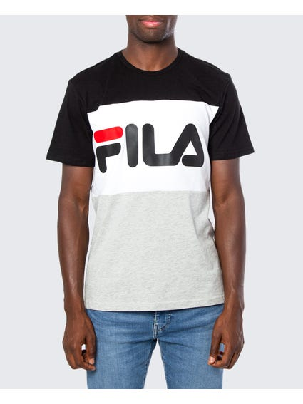 Black Multi Logo Print T-shirt