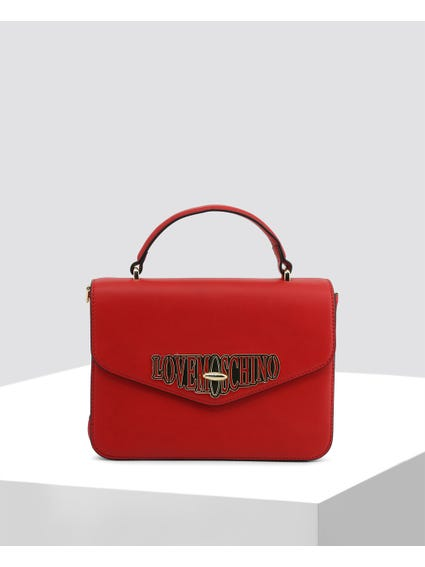 Red Classic Leather Handbag
