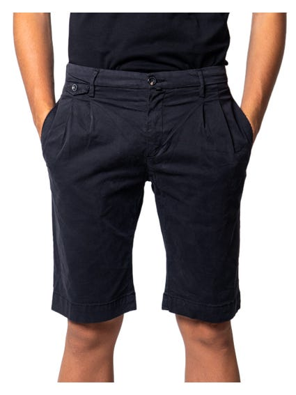 Black Button Zip Pocket Short