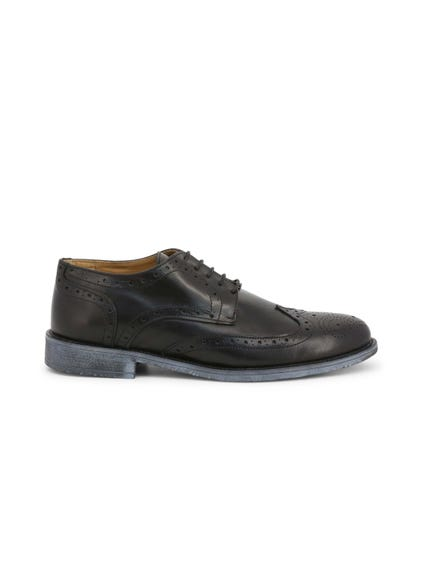 Black Crust Brogue Lace Up Shoes