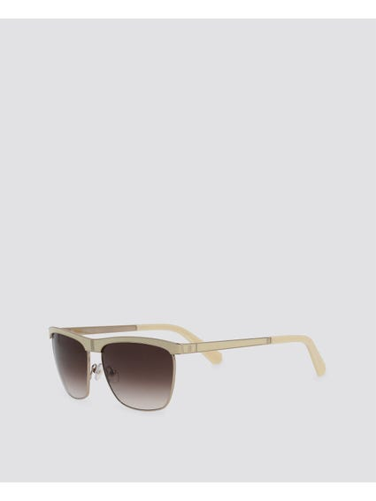 White Gradient Wayfarer Sunglasses
