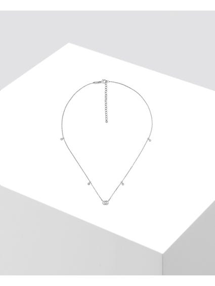 Silver Embellished Diamond Necklace