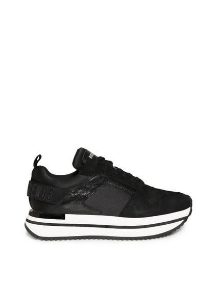 Black Contrast Metallic Sneakers