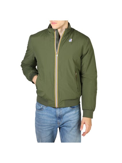 Green Hoodie Long Sleeve Zip Jacket