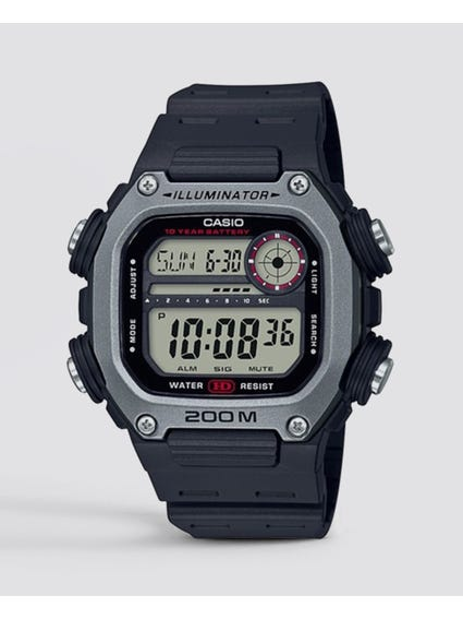 Black Quartz Digital Watch