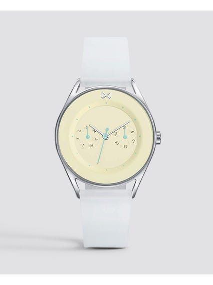 White Venice Stainless Steel Analog Watch