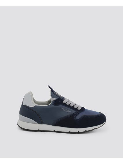 Blue Maxil Contrast Sole Sneakers