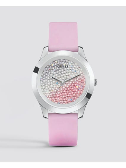 Pink Quartz Silicone Watch