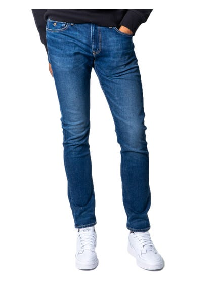 Zip Button Denim Slim Fit Jeans