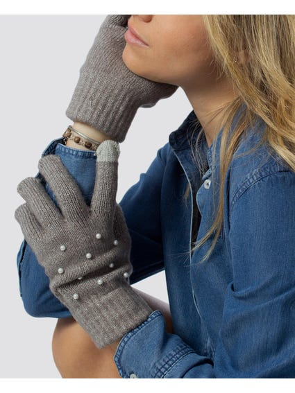 Basic Knitted Pearl Gloves