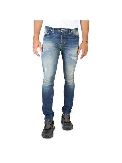 Slim Fit Torn Hip Jeans