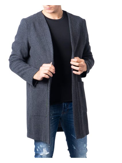 Grey Open Front Coat