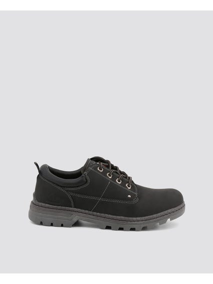 Black Nevala Low Lace Up Shoes