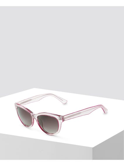 Grey Metallic Cat Eye Sunglasses