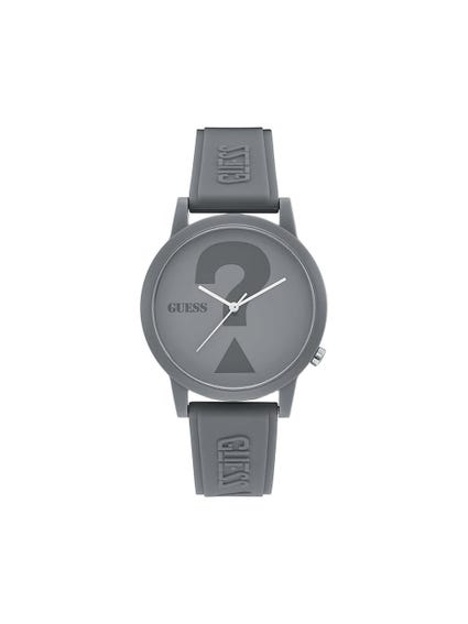 Grey Dial Rubber Strap Watch