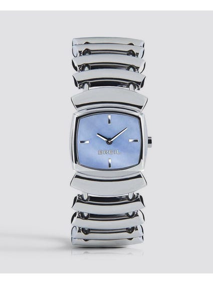 Blue Dial Flowing Analog Watch