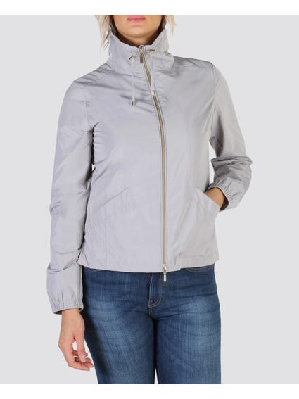 Stylish Grey Bomber Jacket